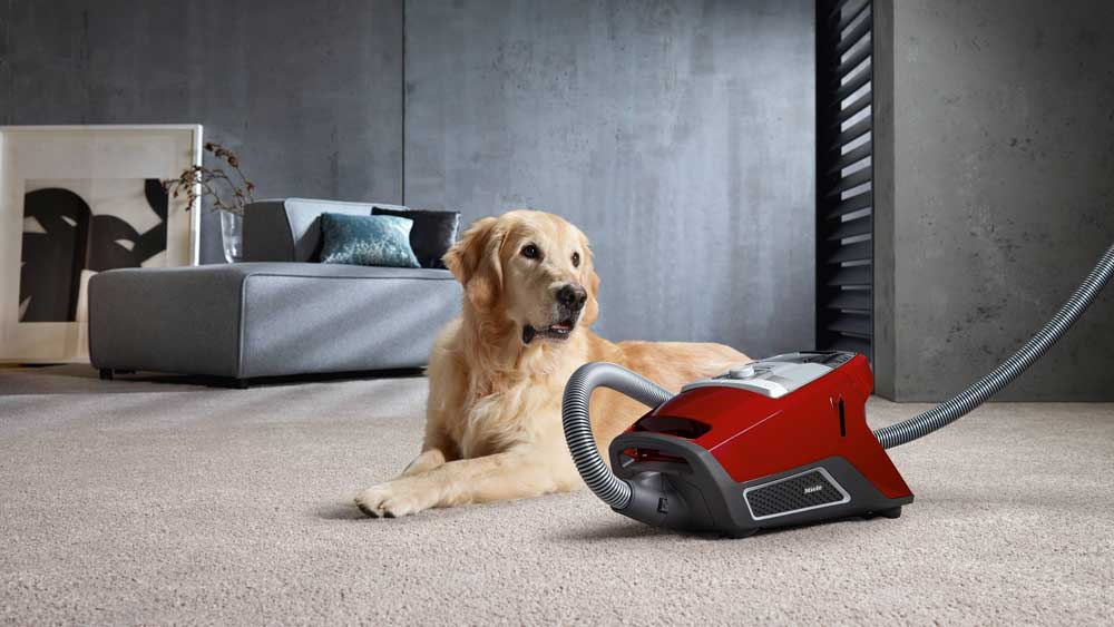 Red Miele Bagless Canister Vacuum at Stark's Vacuums